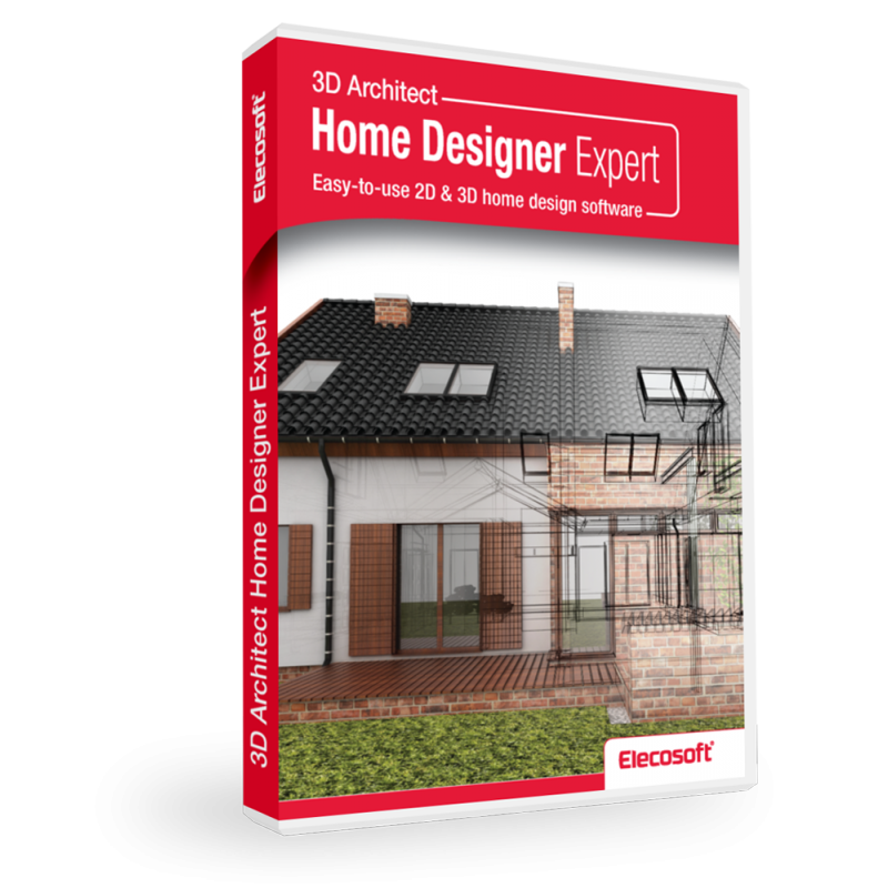 3d architect home designer expert software elecosoft for 3d home builder software