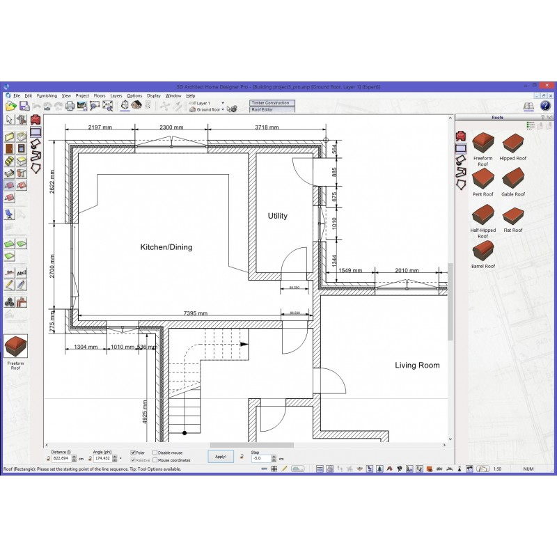 List Of 3d Home Design Software: 3D Architect Home Designer Pro Software