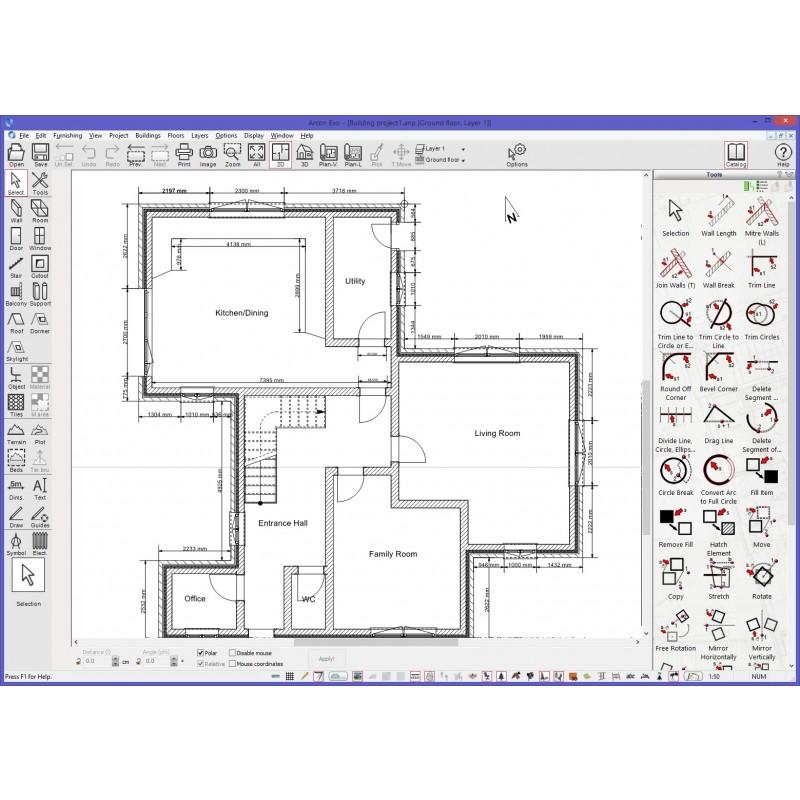 floor plan in construction mode