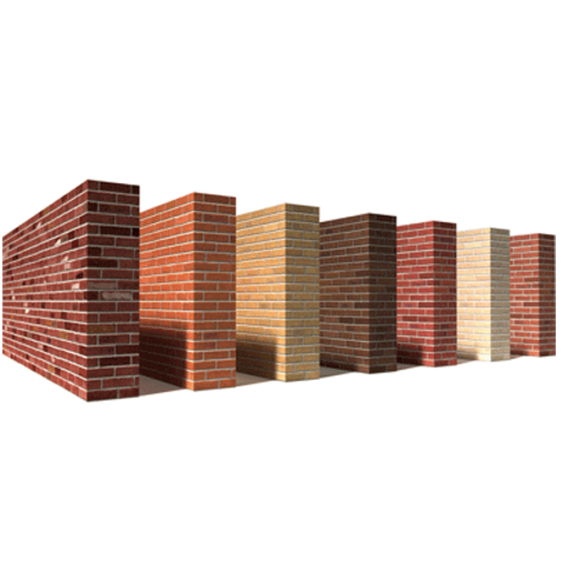 Samples for brick textures for 3D visualisations