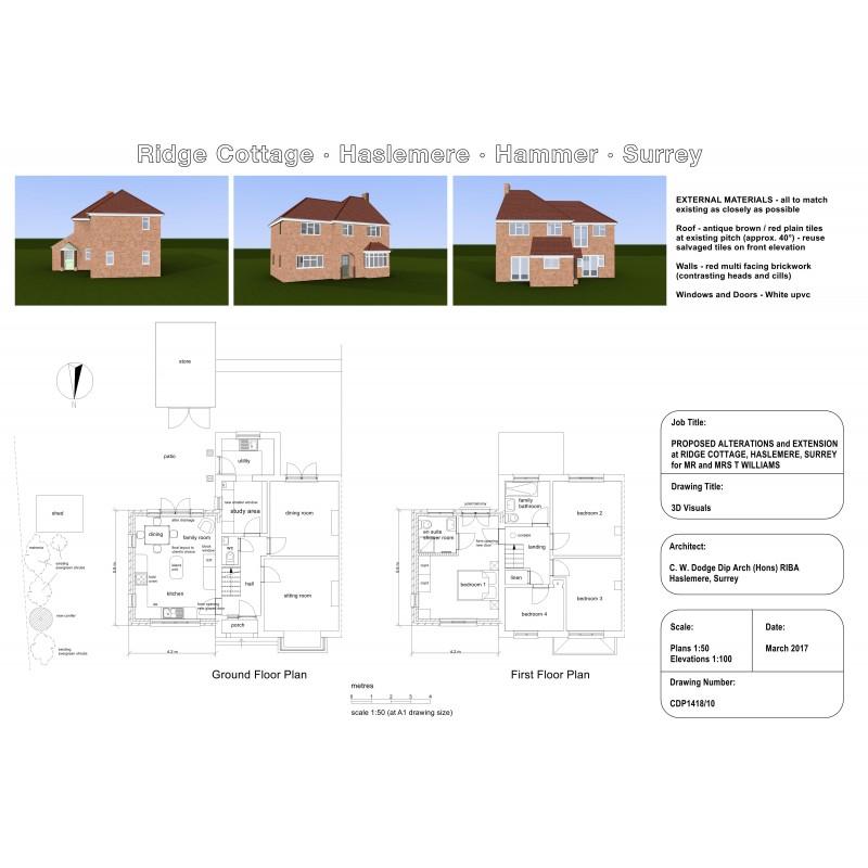 plan set with 3D views
