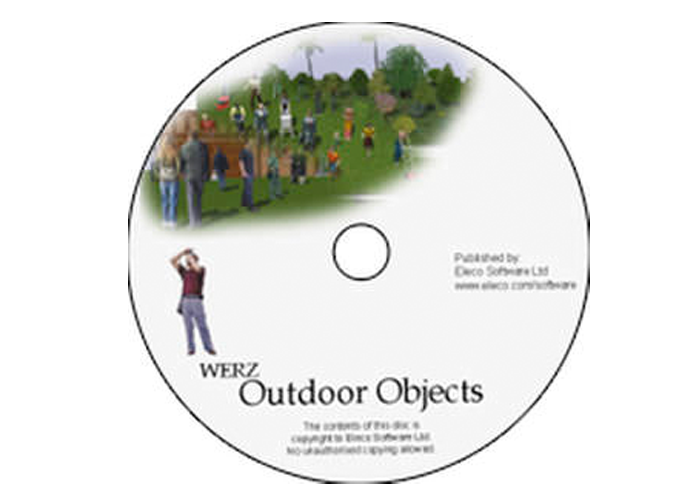 Werz 3D Outdoor Objects for Arcon CAD software