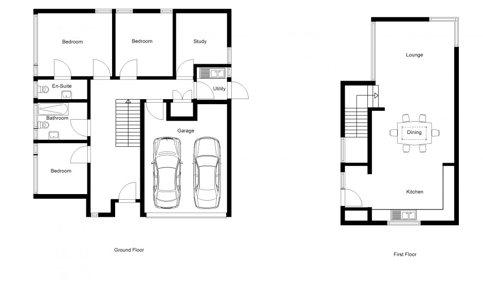 2d drawing gallery floor plans house plans for Draw home floor plans