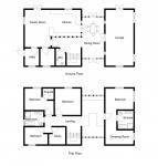 Floor plans in 2D model