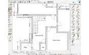 2D floor plan created by 3D Architect Software