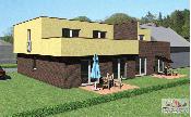 Modern house with terrace design: René Debrodt, Pixel Studio 3D, www.pixelstudio-3d.de