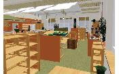 Canteen interior design: Brigitta Huettemann, Planungsbüro Hüttemann, www.planungsbuero-huettemann.de