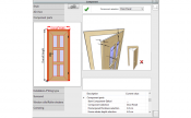Door editor in 3D Architect Software