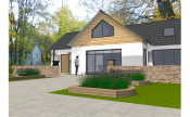 Family house design sample: front view