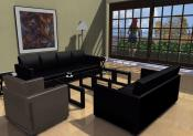 3D house model. View from inside