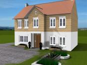 House plan in 3D view