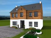 3D house model created with 3D Home Designer