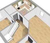 Floor plan in 3D model