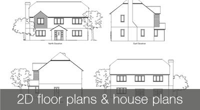 2D house floor plans