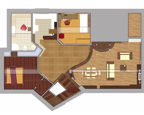 Beautiful 3D House Floor Plan. Drawing Your Home Design ...