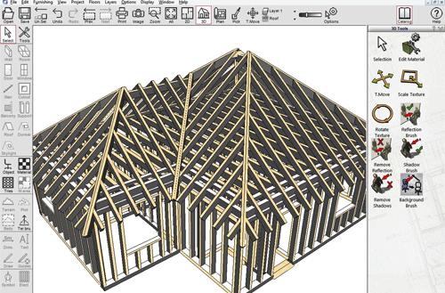 Design a timber frame house model