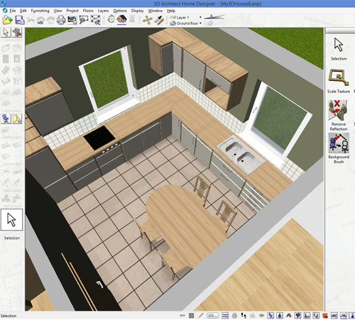 3D Architect Floor Plan Designer Software Screenshot