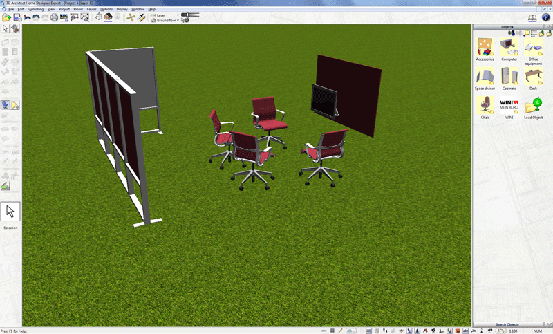 3D objects in 3D view