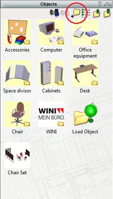 Click on Create New Folder icon