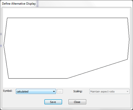 Define alternative display for 3D object