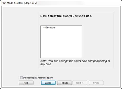 Saving a plan layout