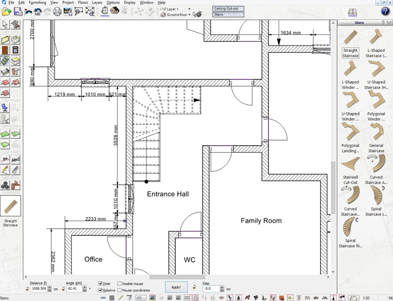 Property visualisation software for real estate agents for Floor plan drawing tool